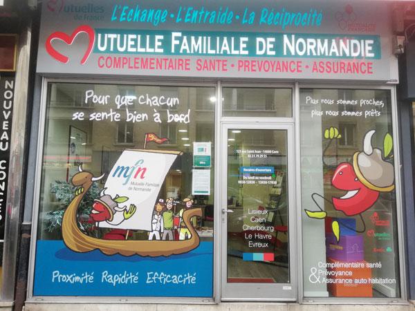 vitrine agence de Caen