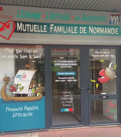 vitrine agence de Cherbourg